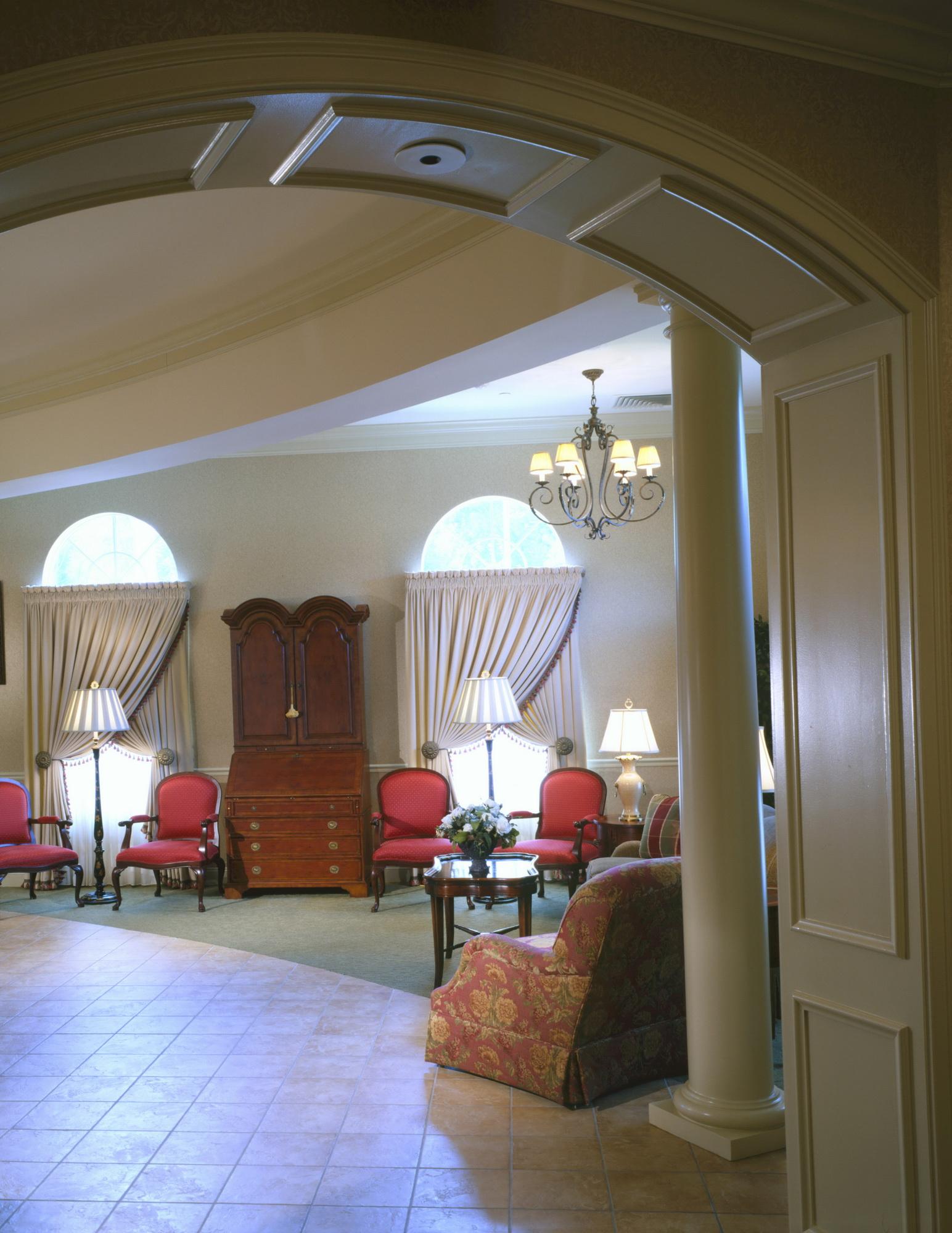 Interior design for funeral home - Paquelet Funeral Home And Arnold Lynch Funeral Home